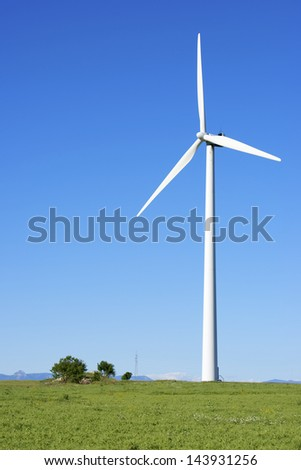 windmill for  electric power production, Gurrea de Gallego, Huesca, Aragon, Spain