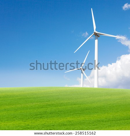 Windmill green energy - stock photo
