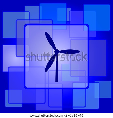 Windmill icon. Internet button on abstract background.