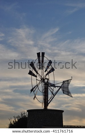 Windmill in Majorca, Spain