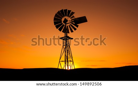 Windmill in the Eyre Peninsula, South Australia - stock photo