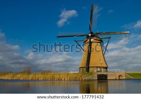 Windmill Netherlands - stock photo
