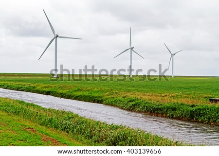 Windmills in north frisland
