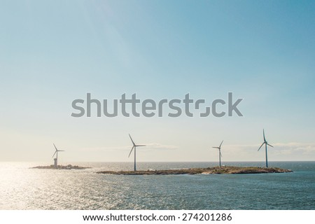 Windmills in the Baltic sea