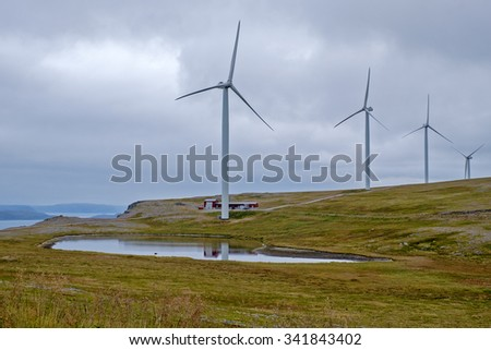 Windmills in the landscape