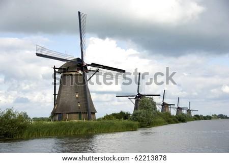 Windmills of the Netherlands - stock photo