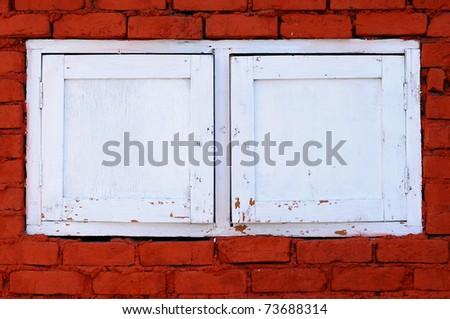 window and wall - stock photo