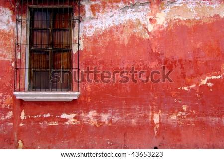 window antigua - stock photo