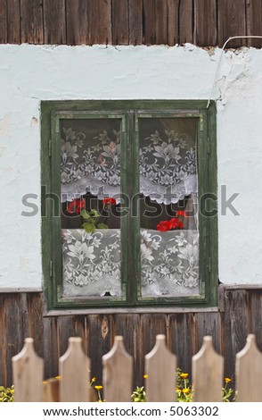 window at countryside