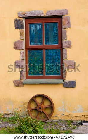 Window at the Celtic Museum in Dingle, Ireland - stock photo