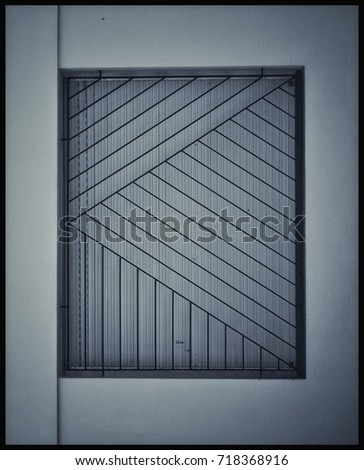 Window Made Wire Mesh Glass Which Stock Photo 143141503