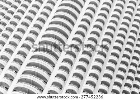 Window building textures background - black and white style - stock photo