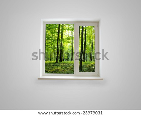 Window close up for background - stock photo