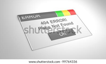 Window error 404. Page not found. 3d illustration - stock photo