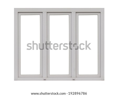 window frame isolated on white - Window Picture Frame