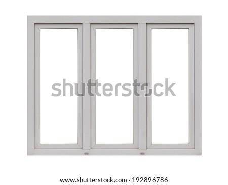 Window frame isolated on white.  - stock photo