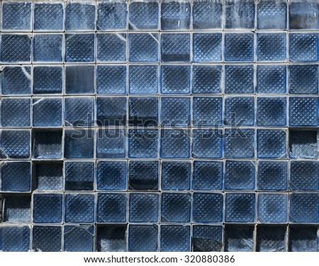 window glass texture - stock photo