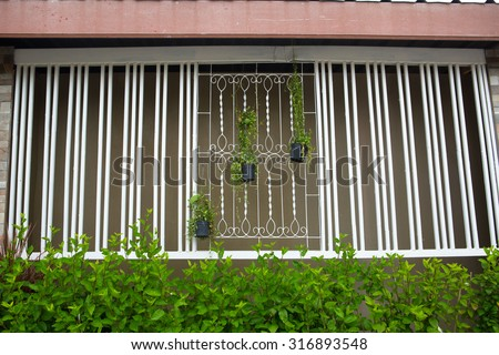 Window Grill Home Design Ideas Typical Stock Photo (Royalty Free ...