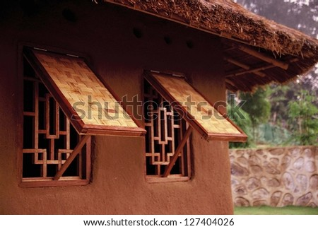 window in a hut