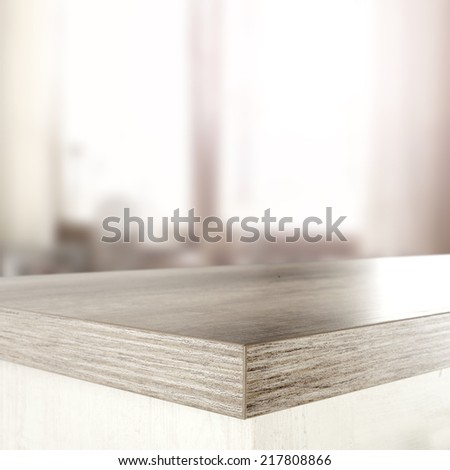window in room and wooden desk  - stock photo
