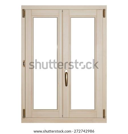 Window isolated on white background. - stock photo