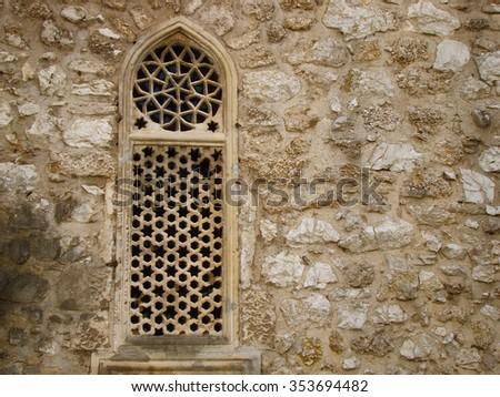 Window of Islamic architecture - stock photo