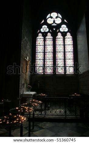 Window of Notre Dame, Paris - stock photo