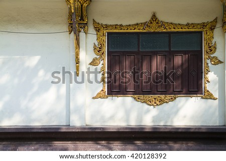 Window of temple thailand