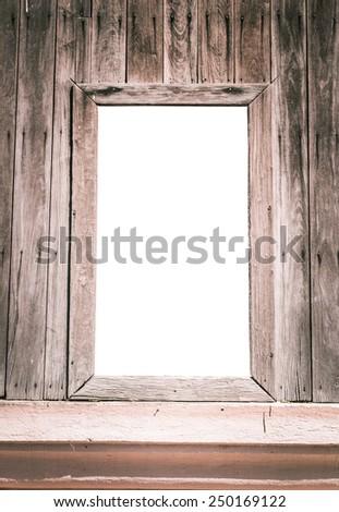 Window old wood - stock photo