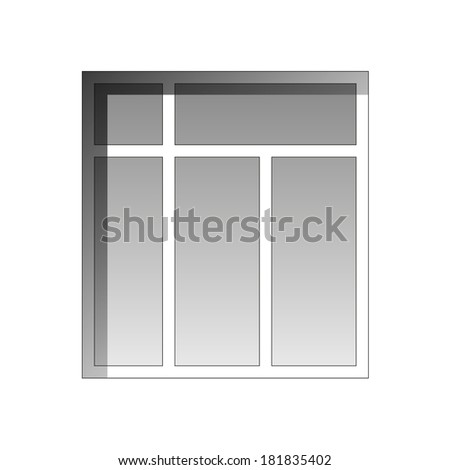 window on a white background - stock photo