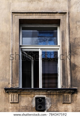 Window on old building