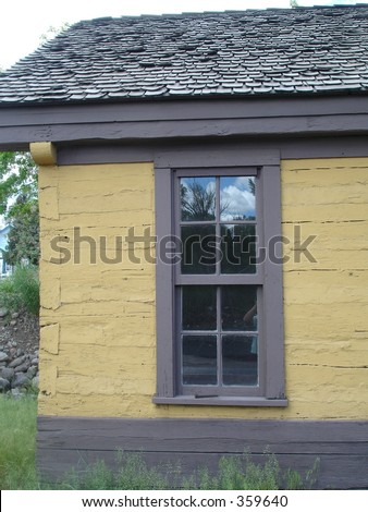 Window on old rail yard building