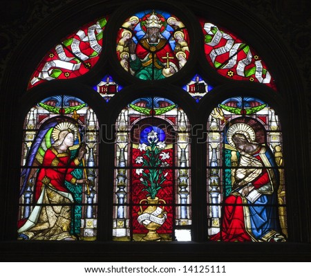 window-pane from Paris church - st. Eustache- 	Annunciation