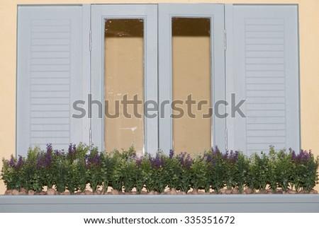 window room selective focus - stock photo