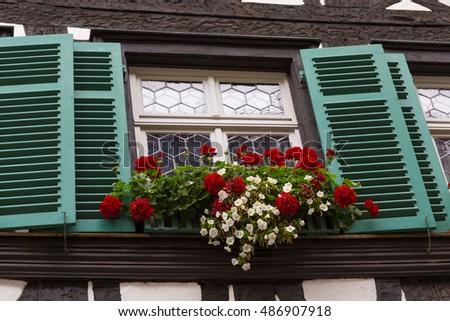 Window shutters stock photo 486907918 shutterstock for European shutters