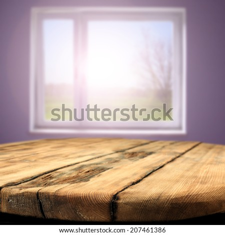 window sun and table space  - stock photo