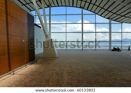 window wall in morden building - stock photo