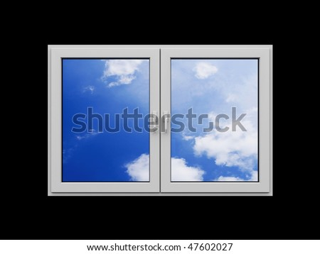 Window with clouds