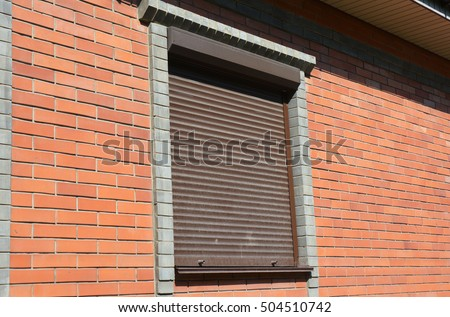 Fire shutter housing window stock photo 480601417 shutterstock - The rolling shutter home in bohemia ...