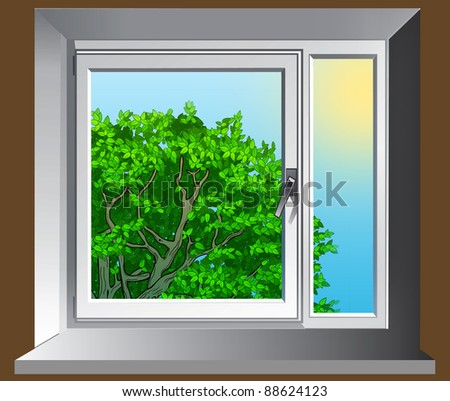 Window with summer view
