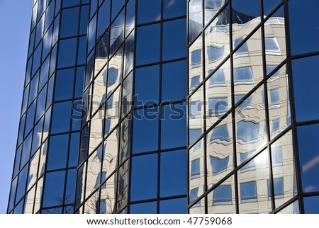 Windows and reflections - stock photo