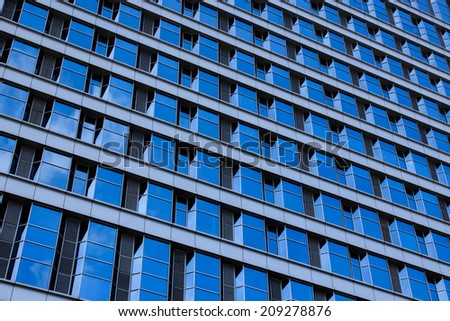 Windows Glass Pattern of Building Texture. - stock photo