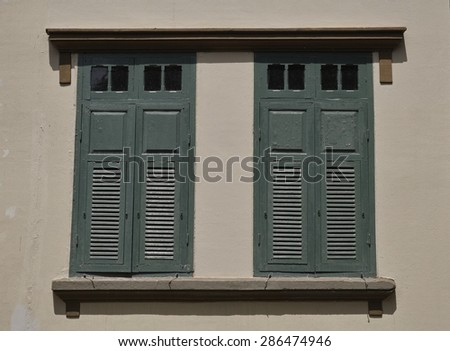 Windows in ancient style
