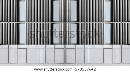 Windows corrugated metal wall industrial office stock photo windows in corrugated metal wall industrial office building facade fragment wide angle sciox Image collections
