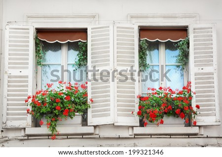 Windows in Paris - stock photo