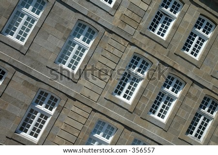 Windows in St. Malo, France - stock photo
