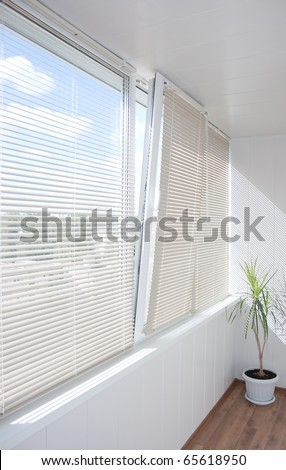 windows jalousie - stock photo