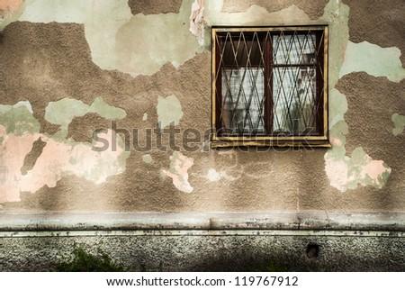 Windows of the house - stock photo