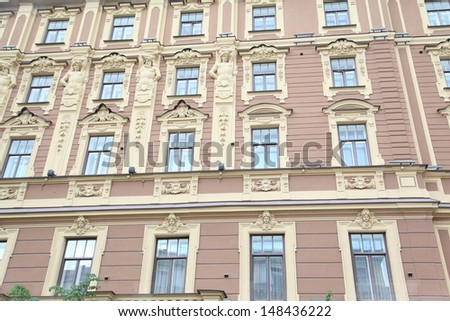 windows on building facade