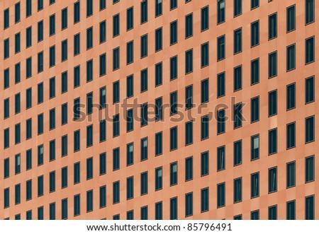 Windows pattern red wall - stock photo